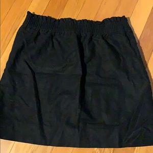 Black JCrew Paperbag Skirt